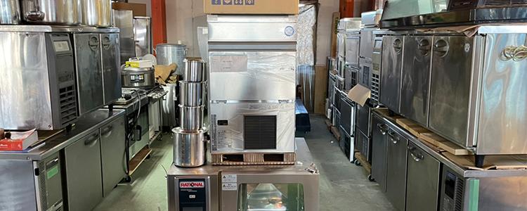 厨房機器商品倉庫あります